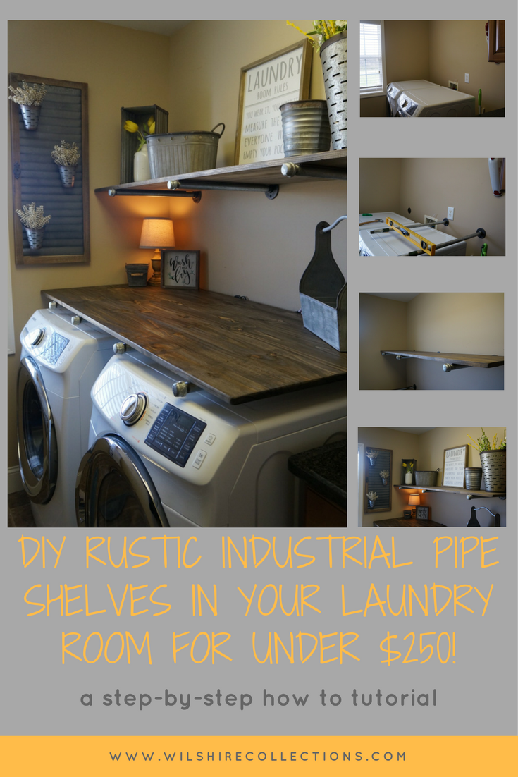 PIN THIS BELOW Laundry Room Diy Industrial Pipe Shelves