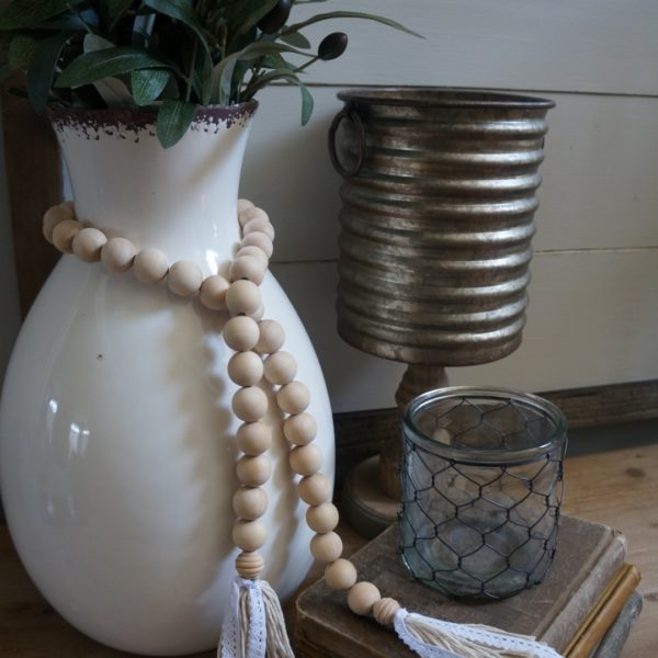 farmhouse bead garland