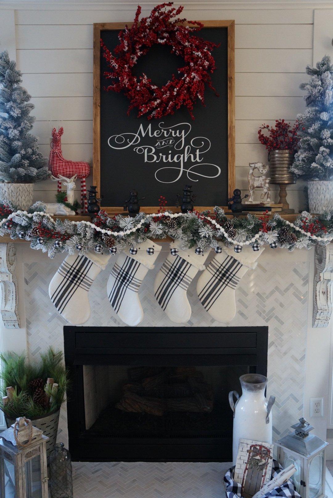 My Buffalo Check Inspired Christmas Living Room Learn How