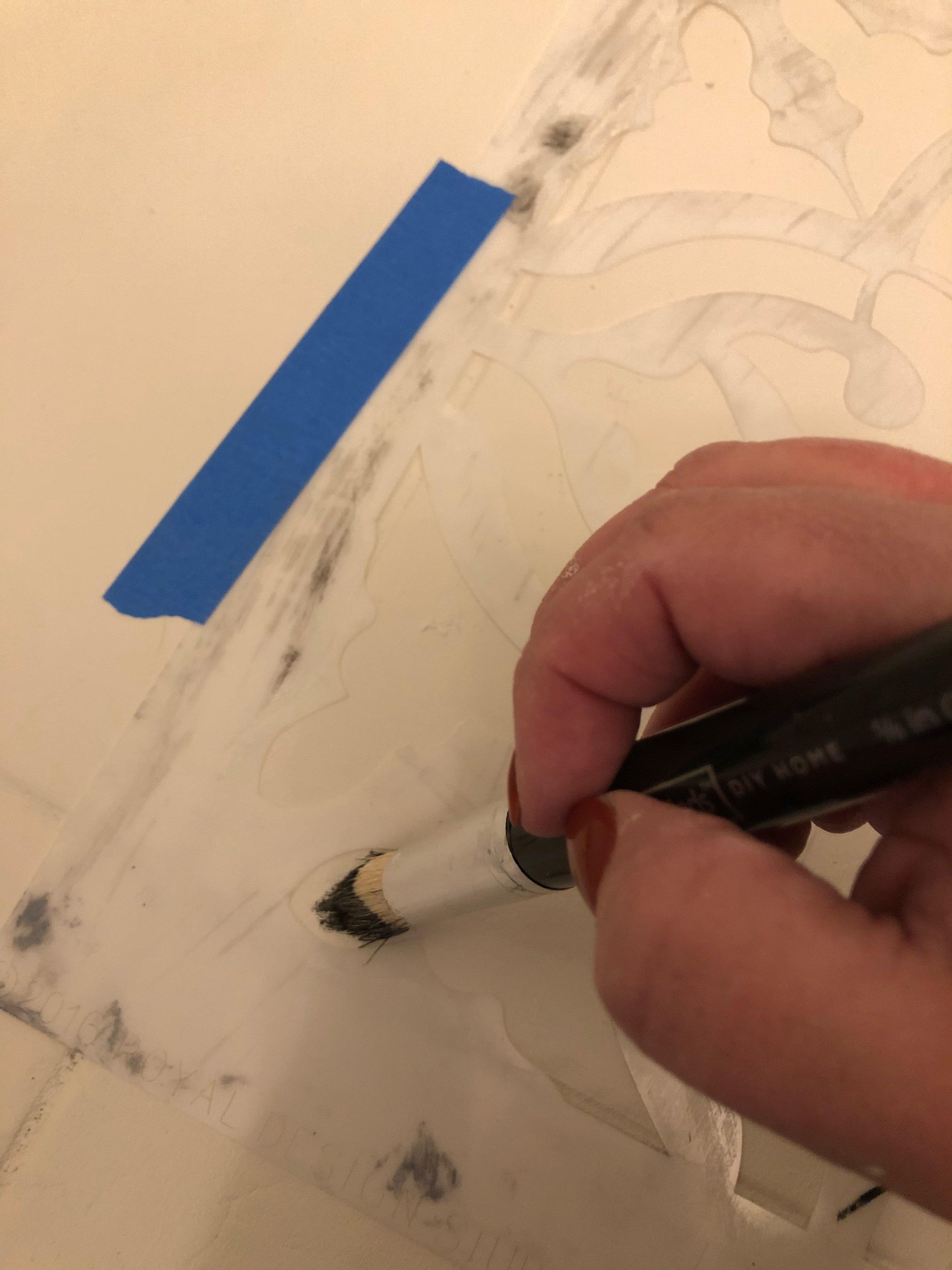 stencil tutorial on painted floors