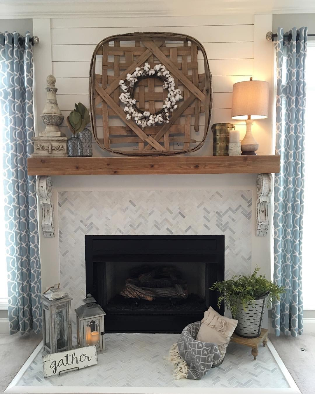 Our fireplace overhaul…from drab to fab!