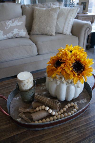 Sunflower Pumpkin DIY prjoect