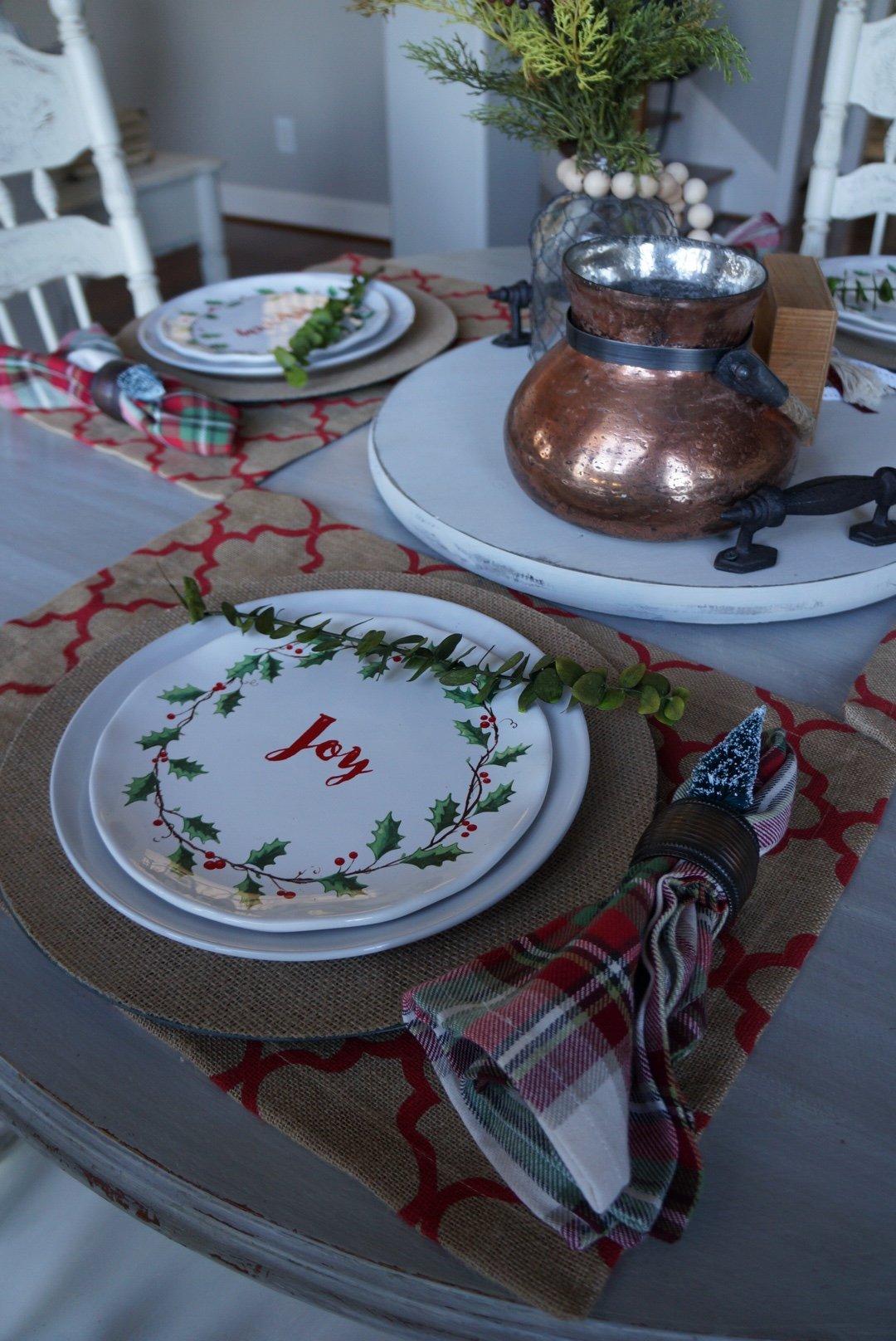 Casual Christmas Table Setting Easy As 1 2 3