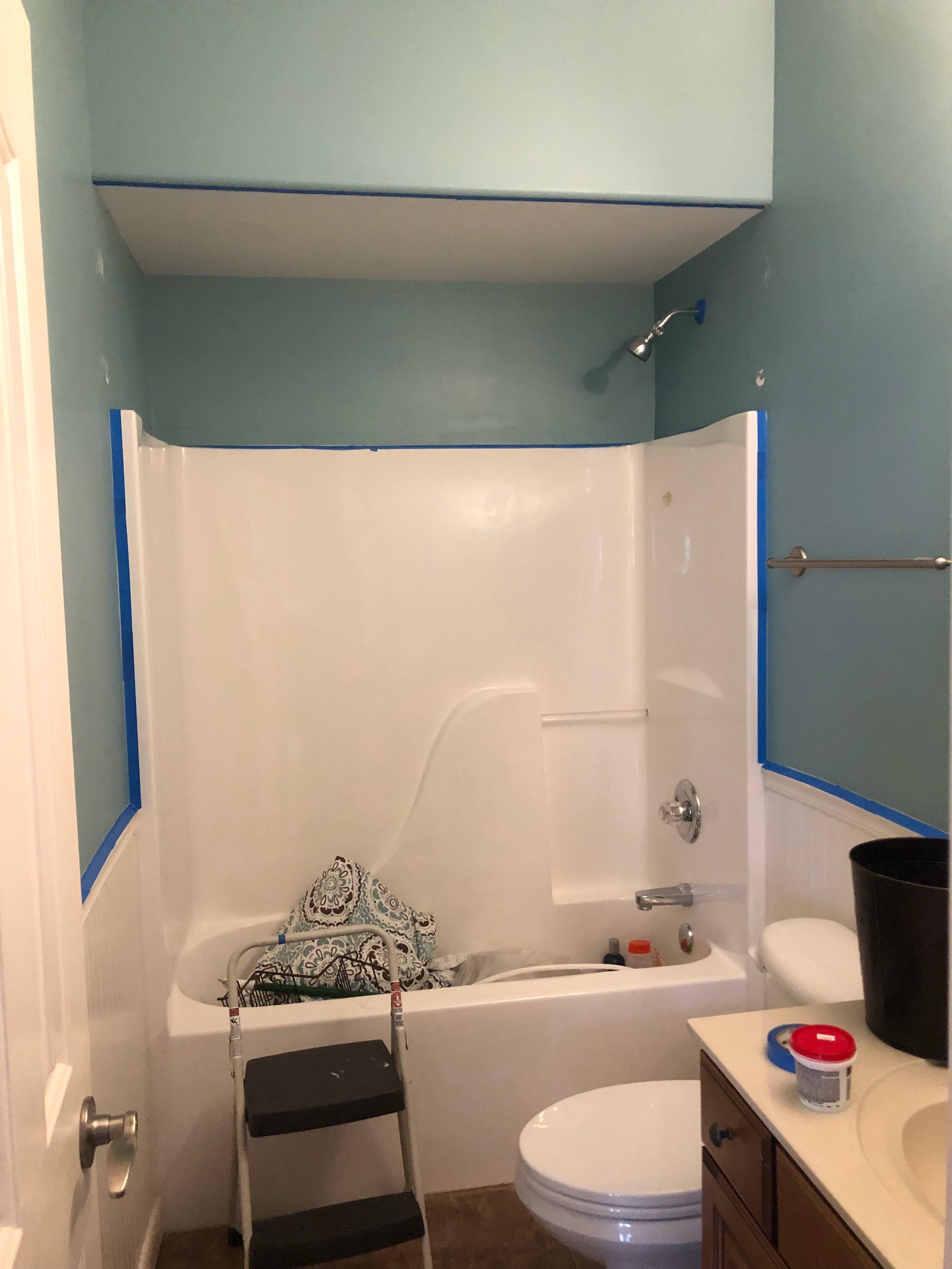 Dollar Room Challenge Bathroom Makeover Paint Prep Wilshire - Makeover my bathroom