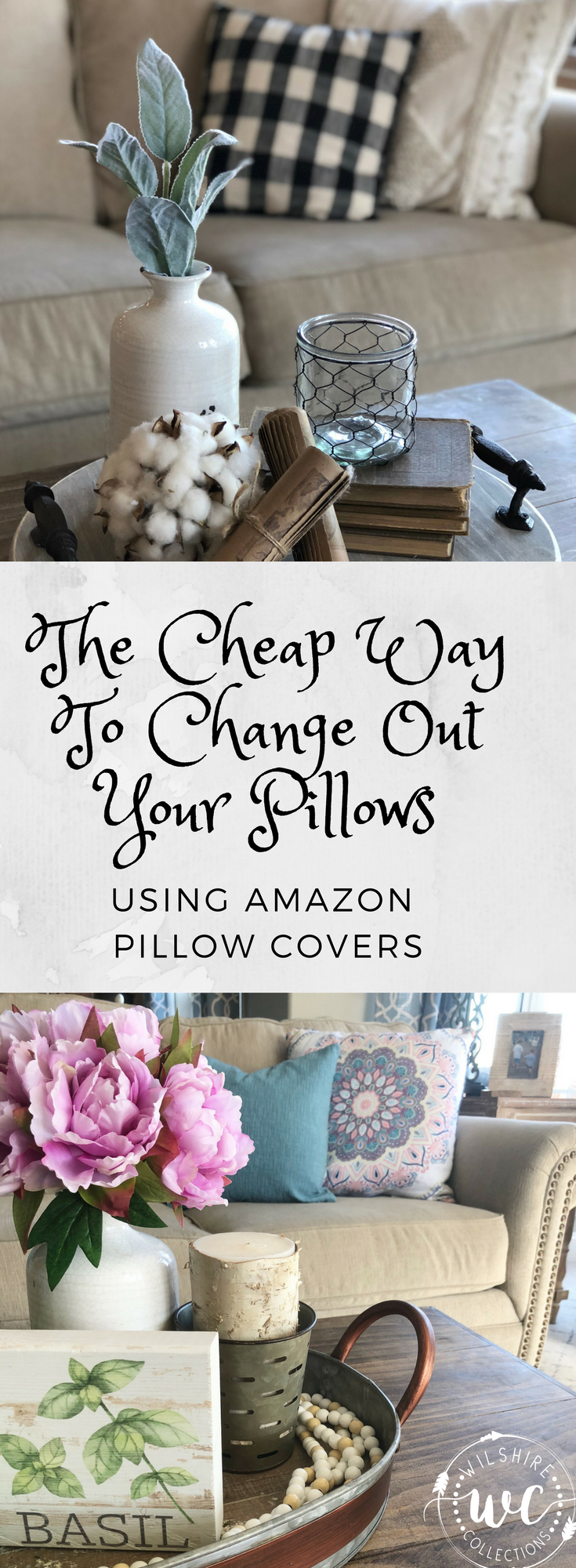 The cheap way to change out your pillows using Amazon pillow covers ...