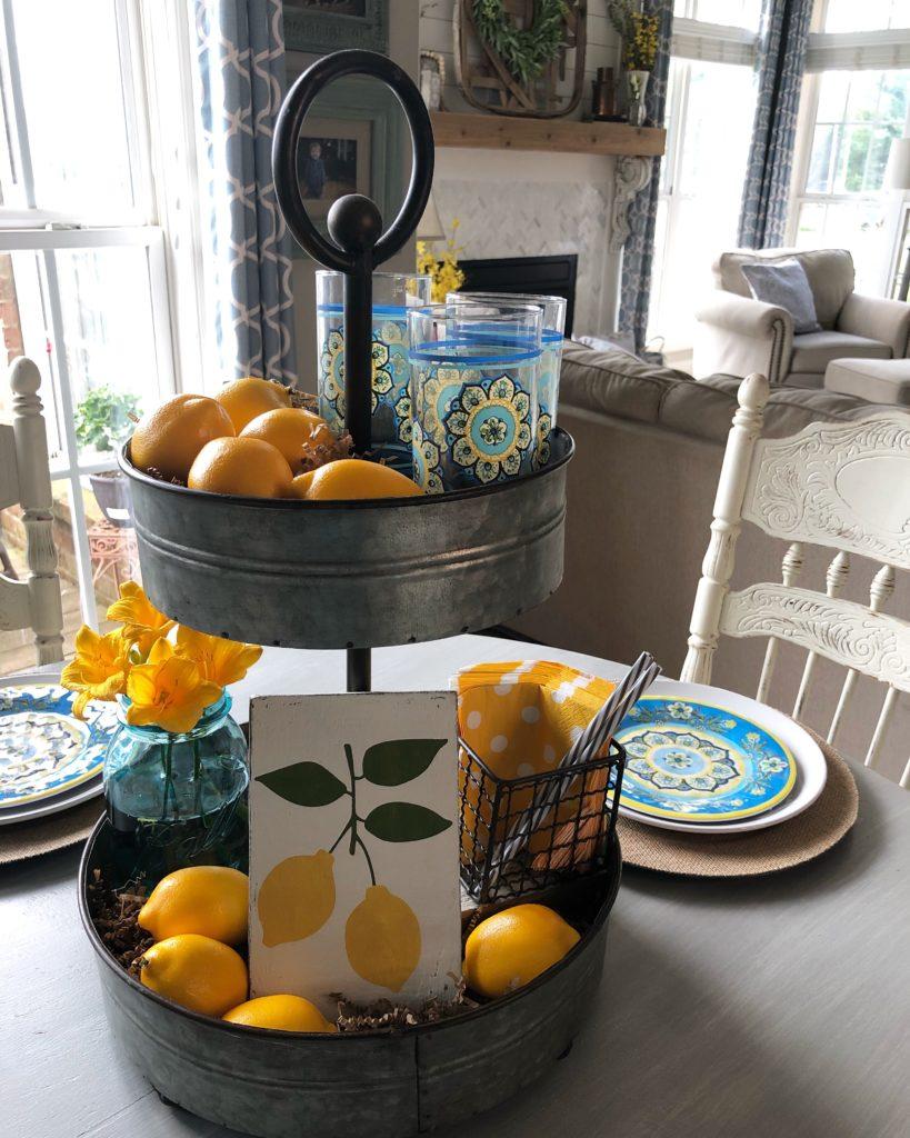 farmhouse style tray styling inspo
