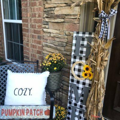 DIY Buffalo Check Porch Board- Home can use for any season!