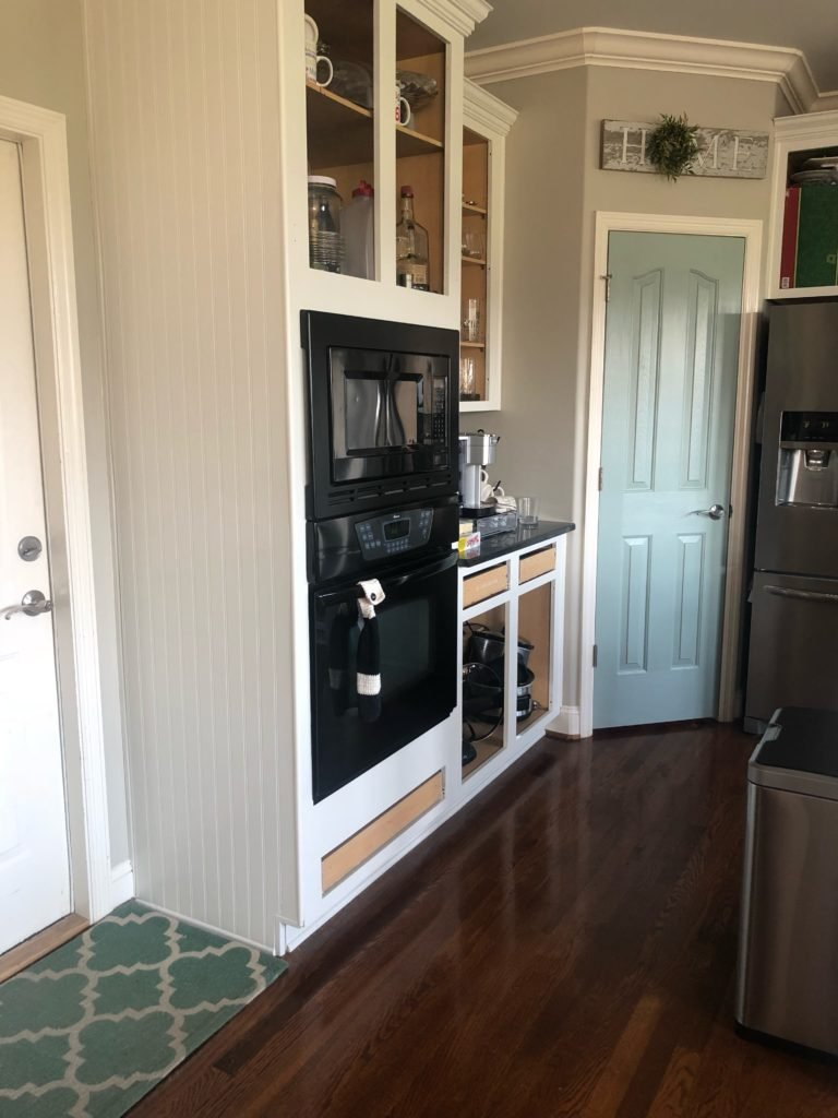 My Kitchen Cabinet Makeover With A Blue Pantry Door