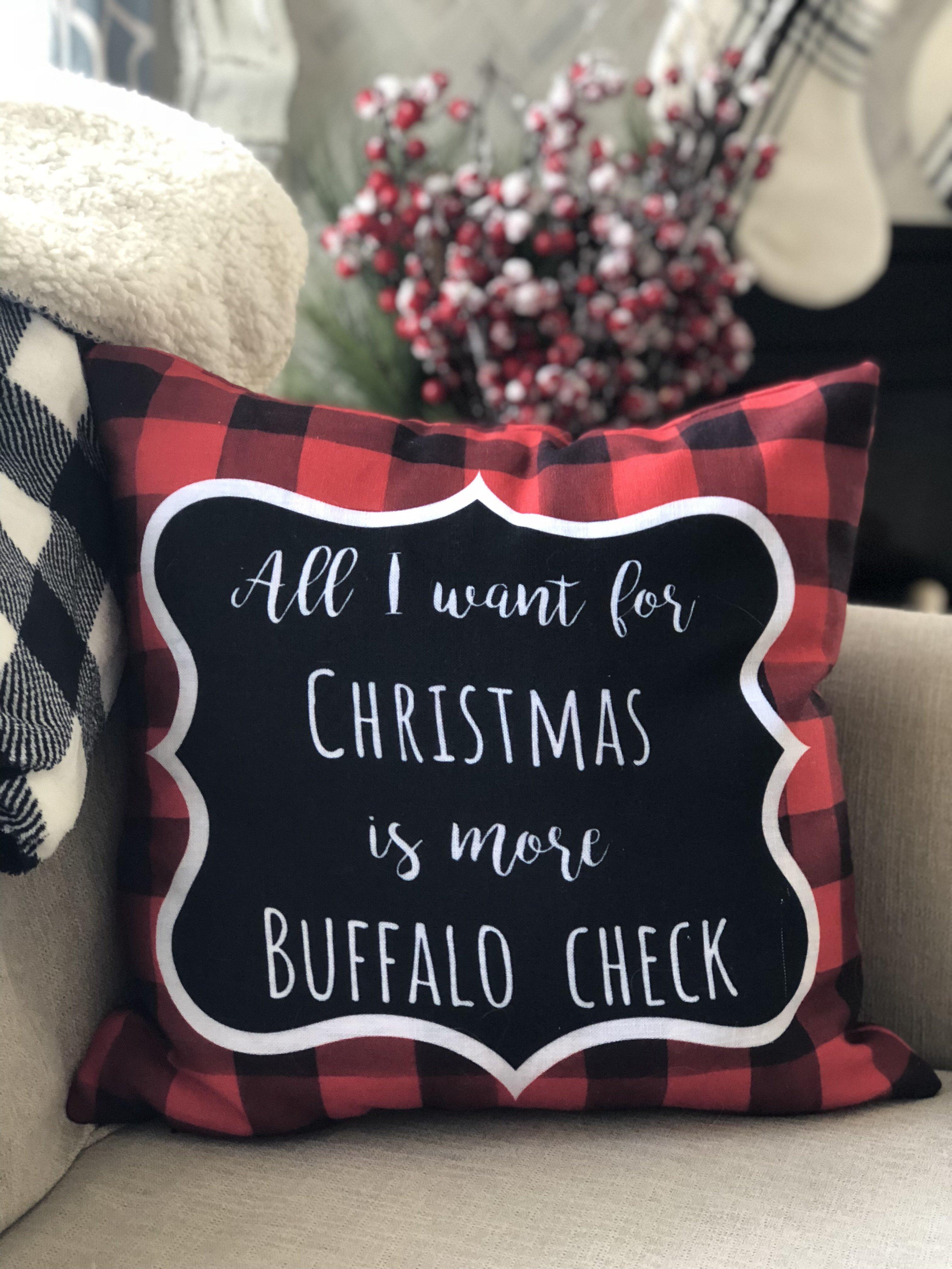 All I Want For Christmas.Buffalo Check Pillow Cover All I Want For Christmas Is Buffalo Check