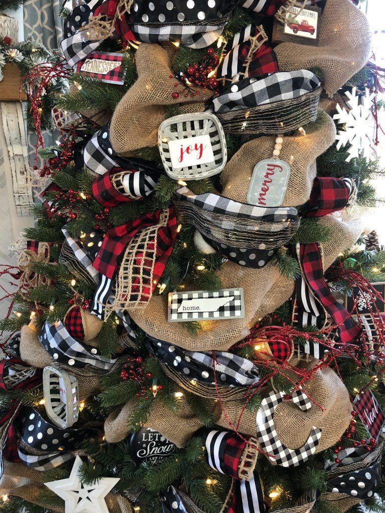 Buffalo Check Christmas Tree With Ribbon 2018 Wilshire