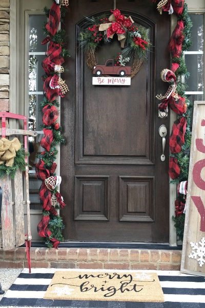 3 things every Christmas front porch should have with my new Kirkland's items!