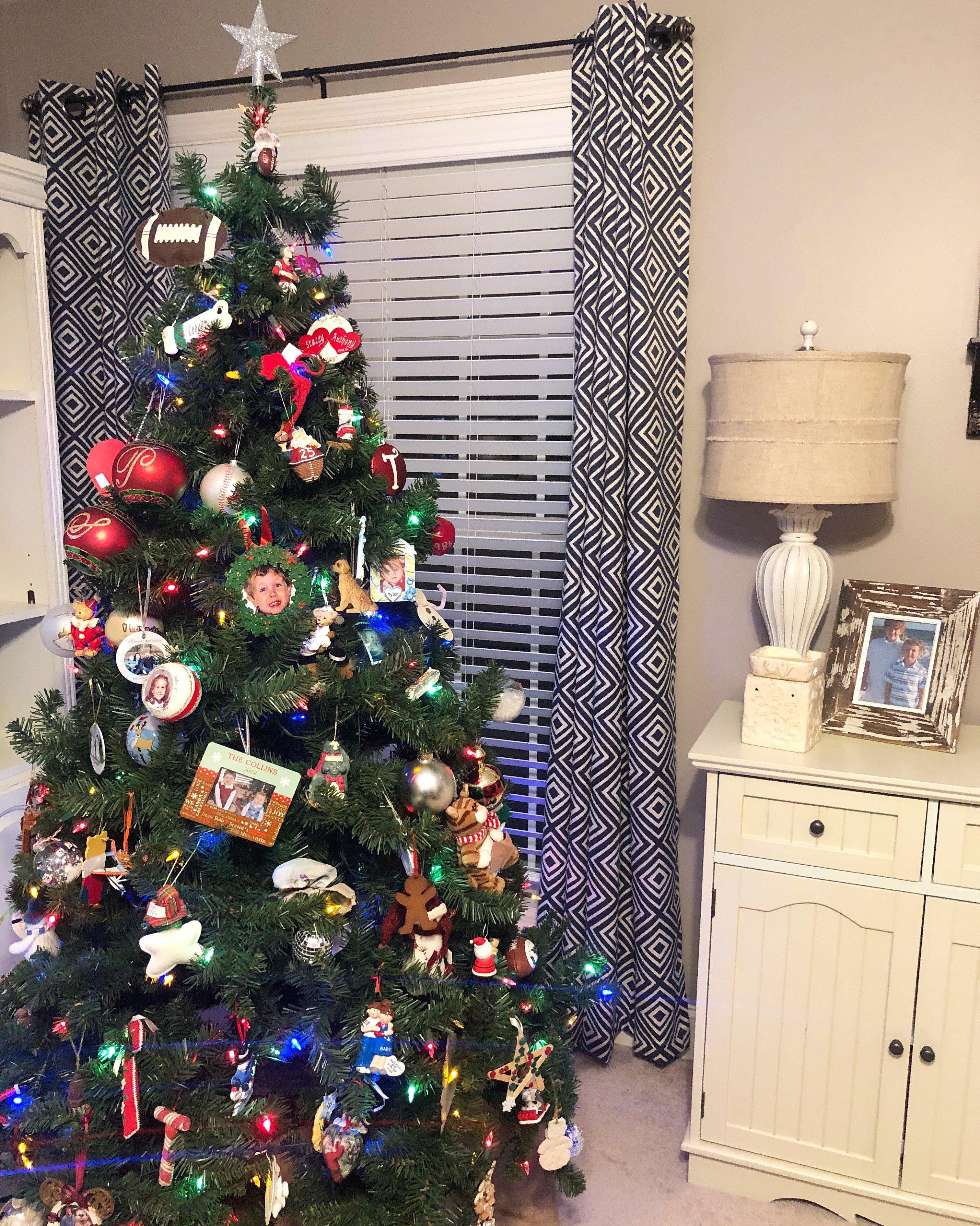 Christmas home tour the boys tree