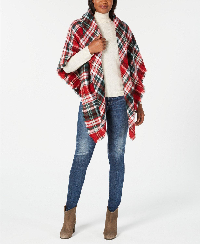 Favorite things plaid blanket scarf