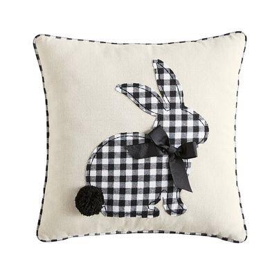 Buffalo Check Easter decor, pillow with bunny