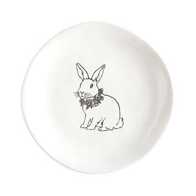 Buffalo check Easter Deccor, salad plate with bunny