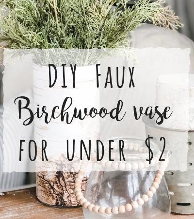 DIY Faux Birchwood Vase for less than $2!