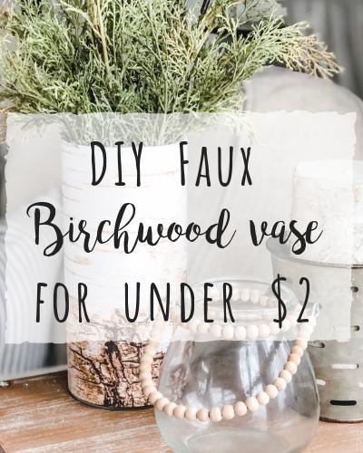 DIY Faux birchwood vase for under $2