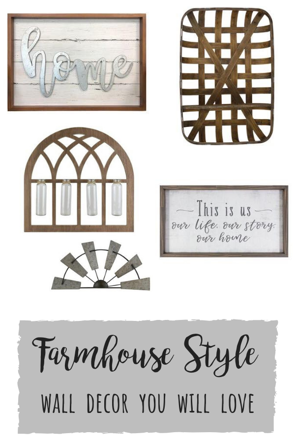Farmhouse wall decor you will love! Signs, clocks and more!