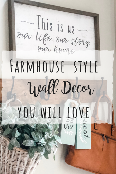 Farmhouse wall decor you will love for your home! Clocks, signs and more!