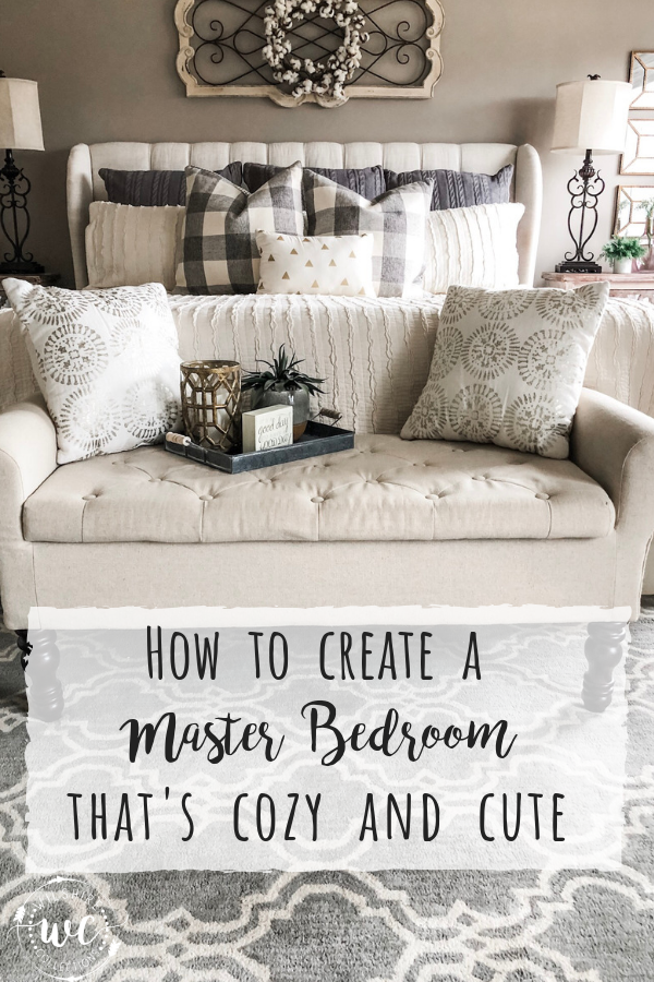 How to create a neutral master bedroom that's cozy and cute