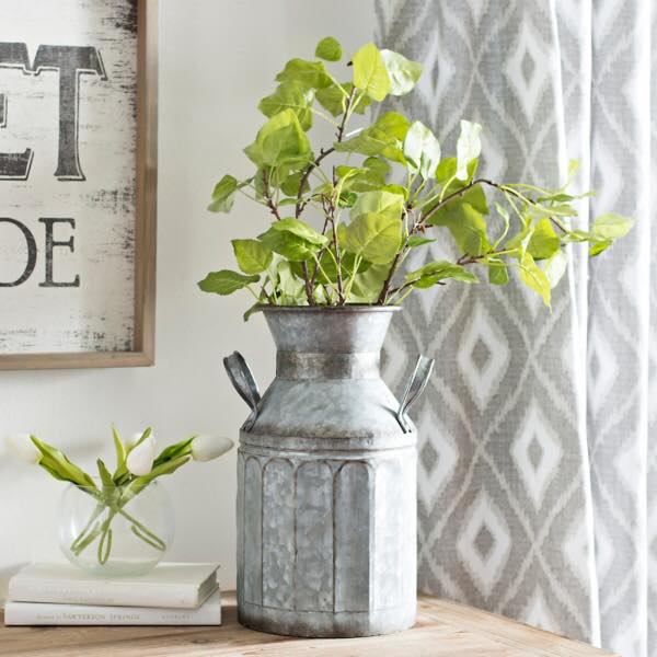 The best farmhouse vases for your florals- galvanized