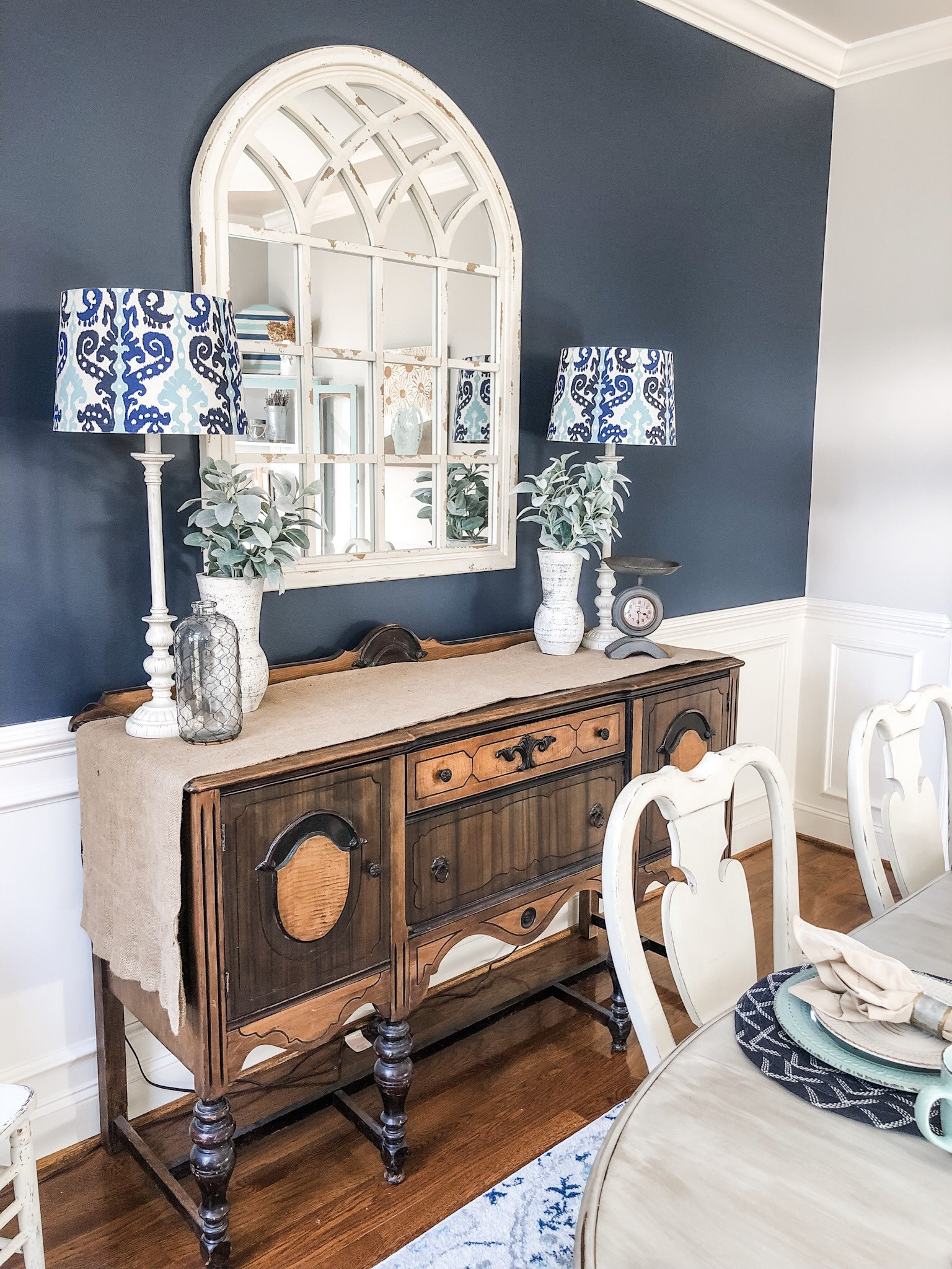 Navy Paint On An Accent Wall In My