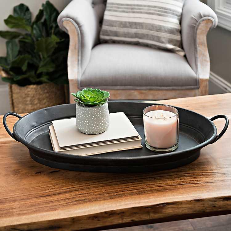 10 fabulous farmhouse trays you will love, black tray