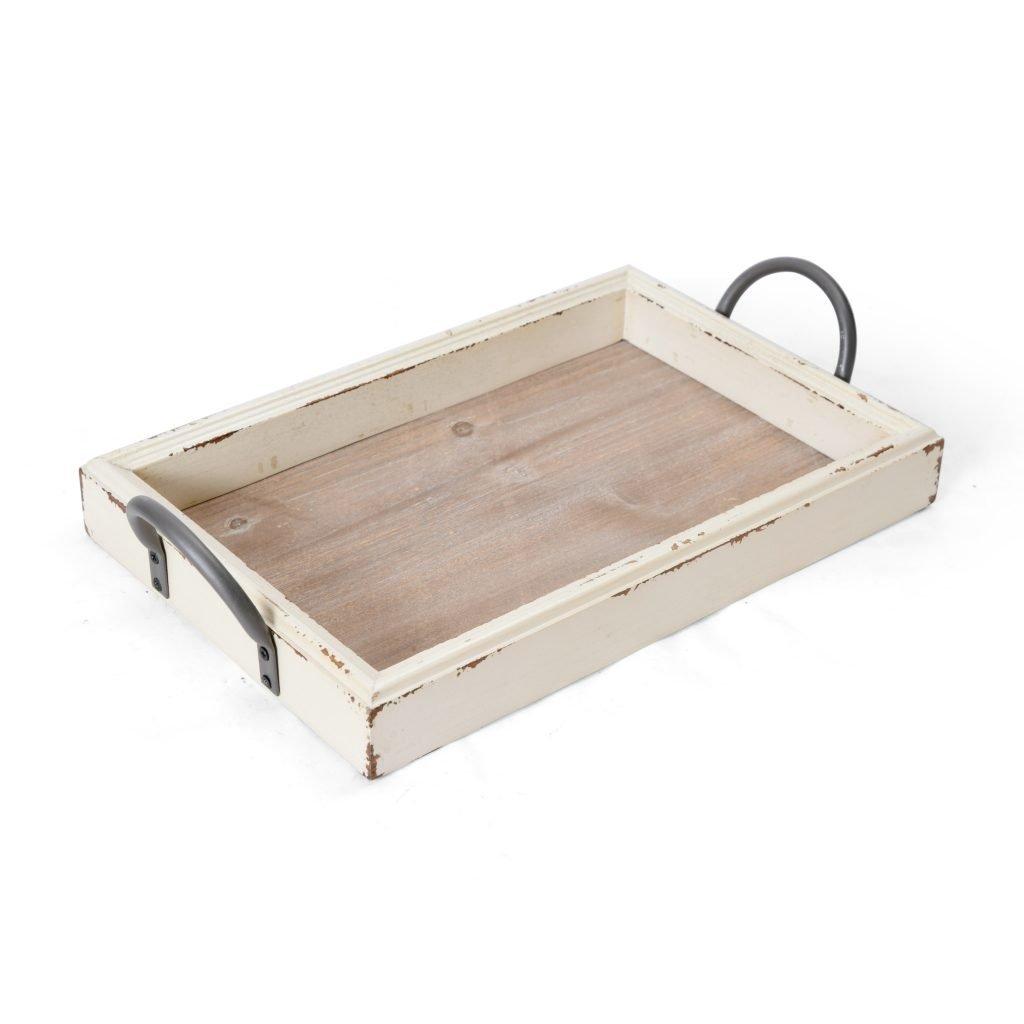10 fabulous farmhouse trays you will love, white wood tray