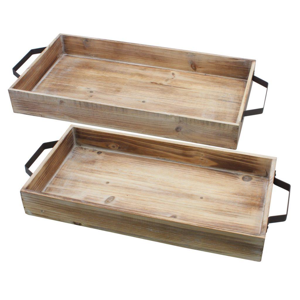10 fabulous farmhouse trays you will love, wood set of 2