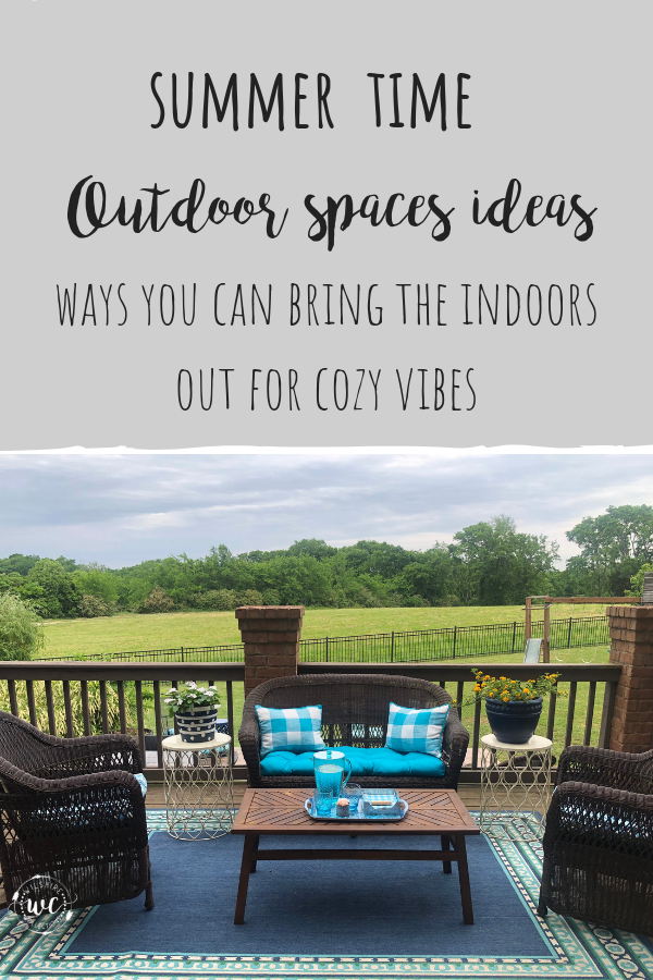 Summer outdoor space ideas, ways to bring the inside out to create cozy vibes