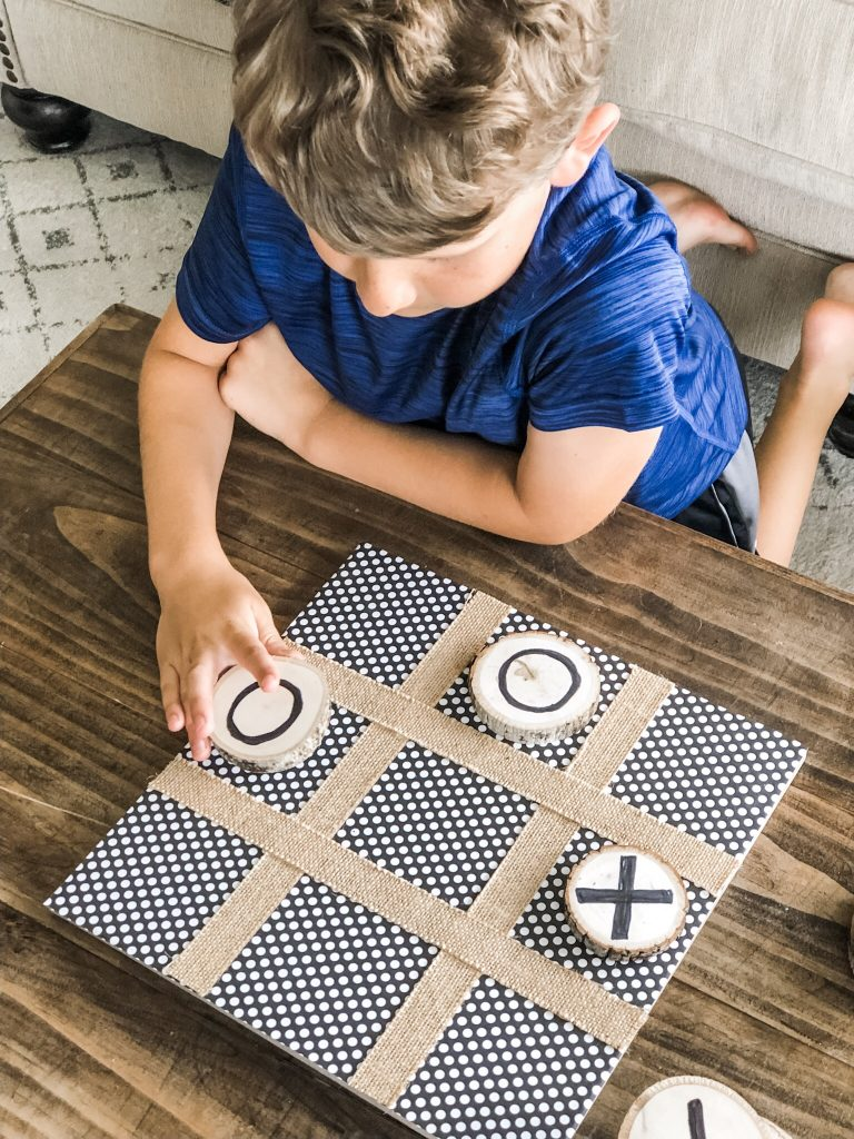 DIY Tic-Tac-Toe game fun for all ages, easy and cute!