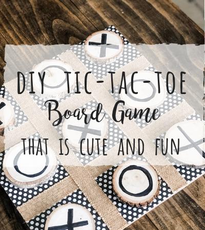 DIY Tic-Tac-Toe Game that's cute and fun!