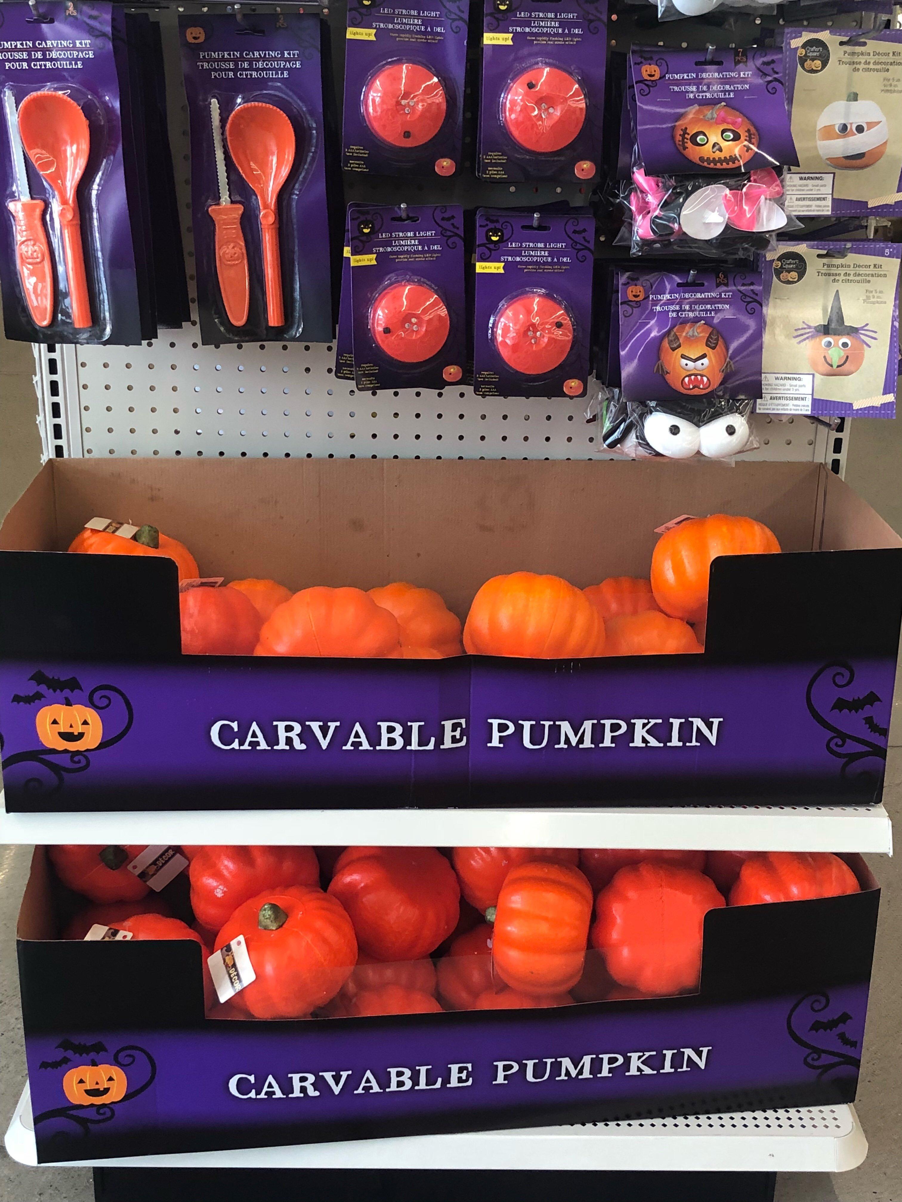 Easy no sew fabric pumpkins from dollar tree pumpkins