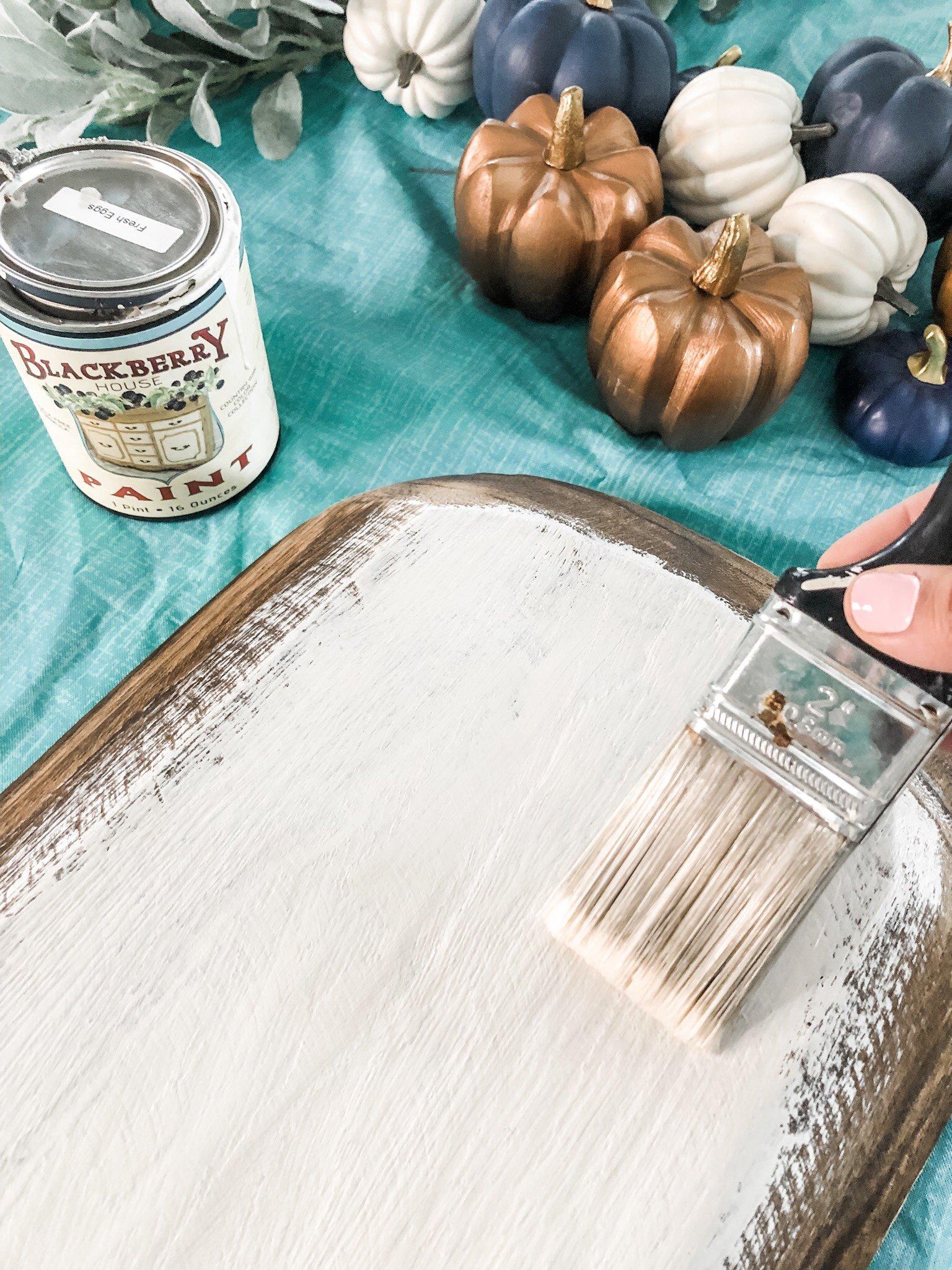 fall dough bowl idea, painting it white