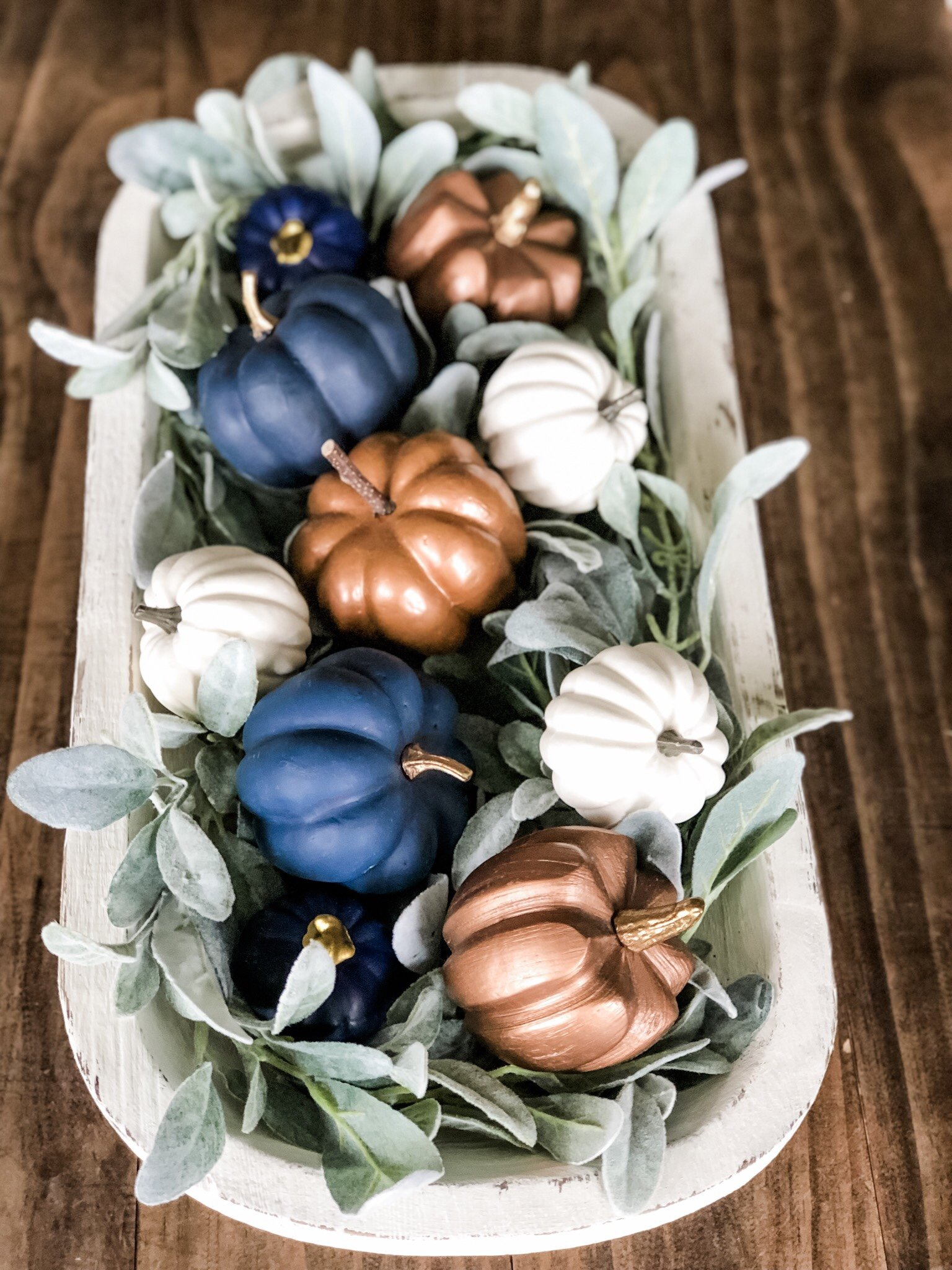 Fall dough bowl idea, an easy way to style it
