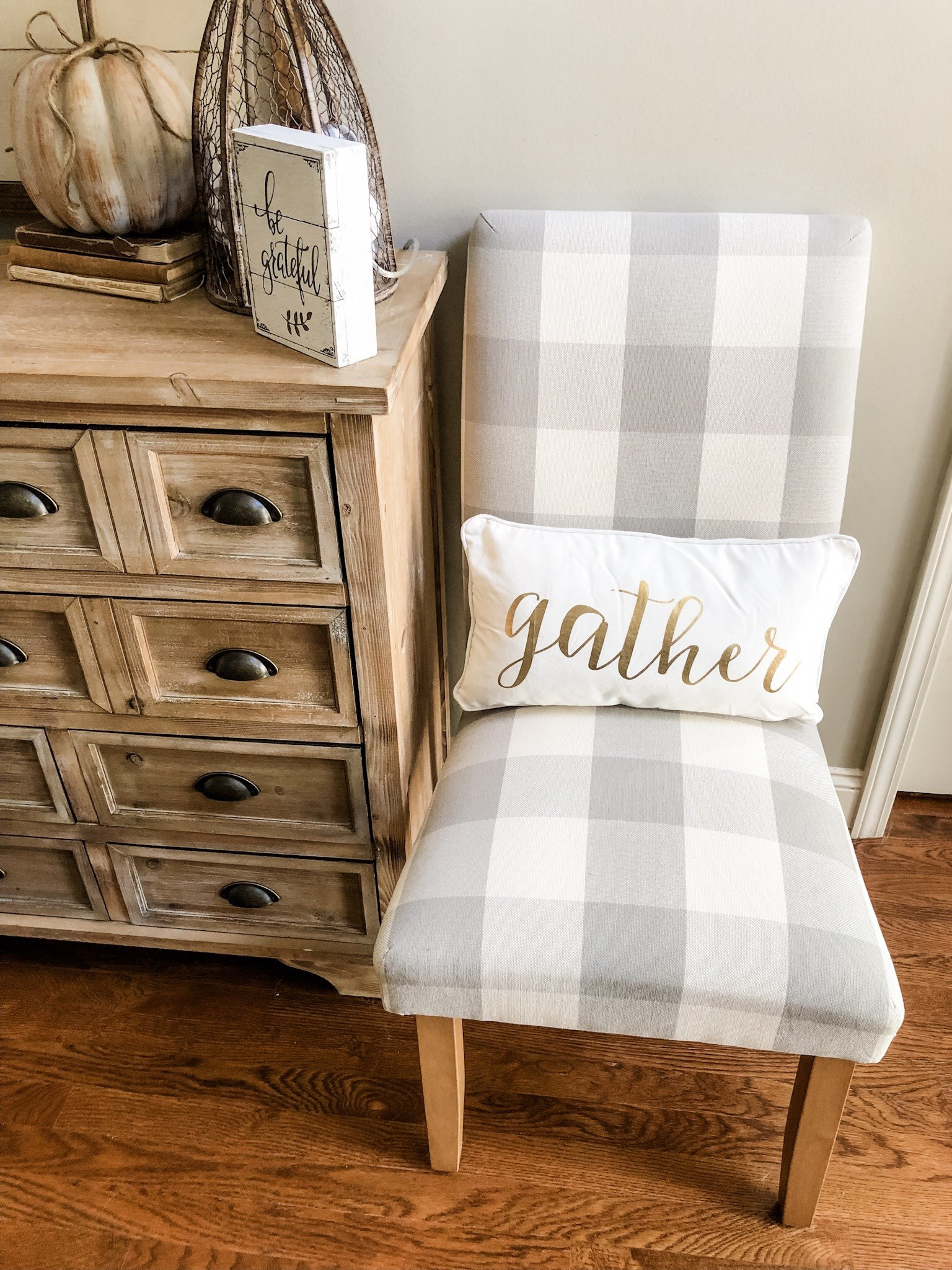 Fall decorating ideas using copper accents