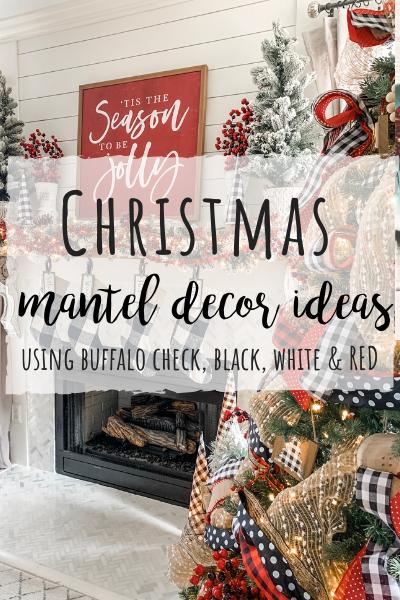 christmas mantel decor using buffalo