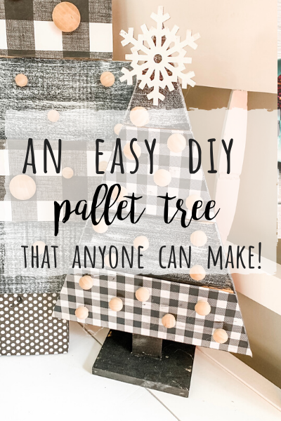 Easy DIY Pallet tree for Christmas!