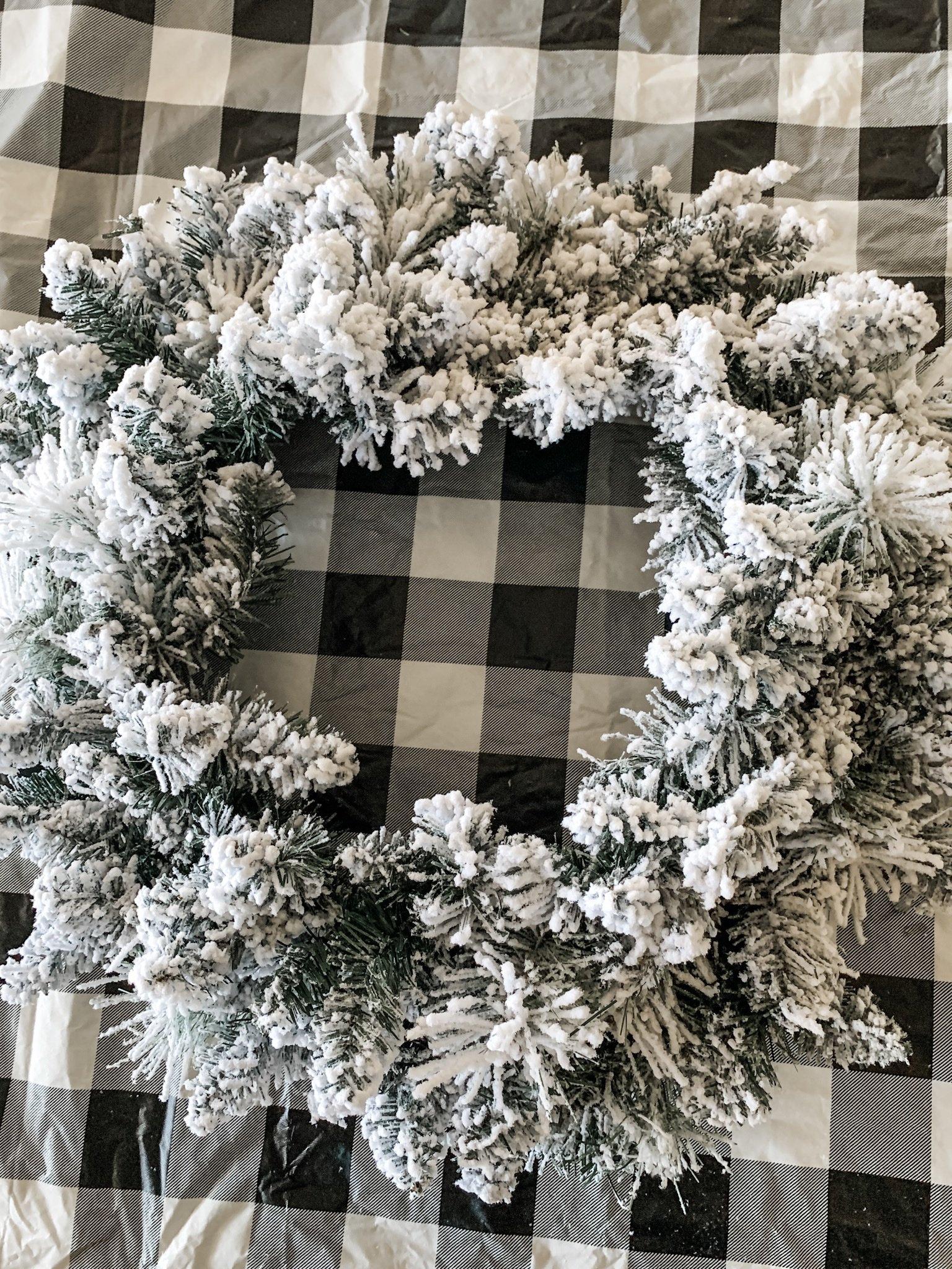 Flocked wreath idea for the holidays