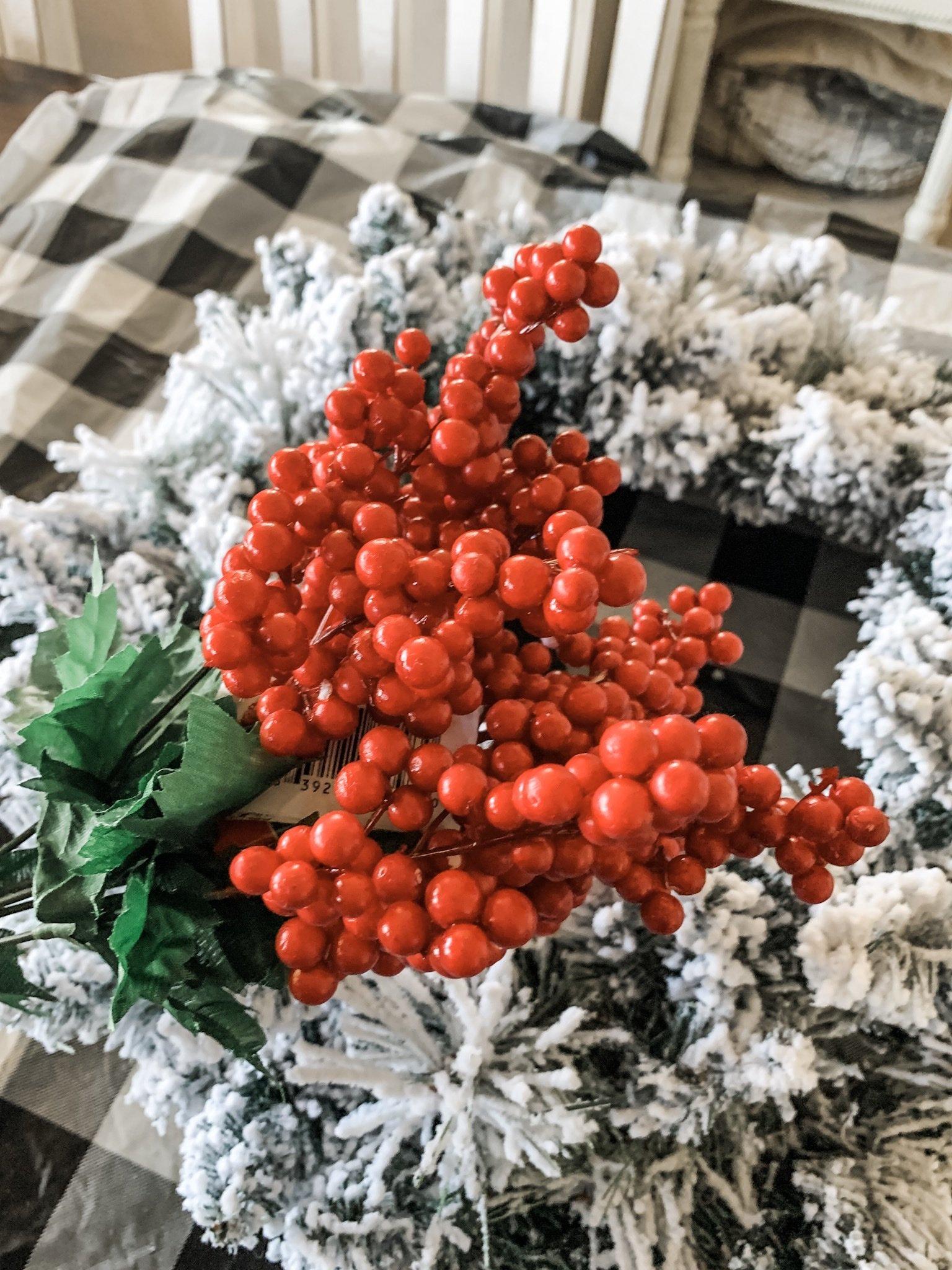 Flocked wreath idea for the holidays!