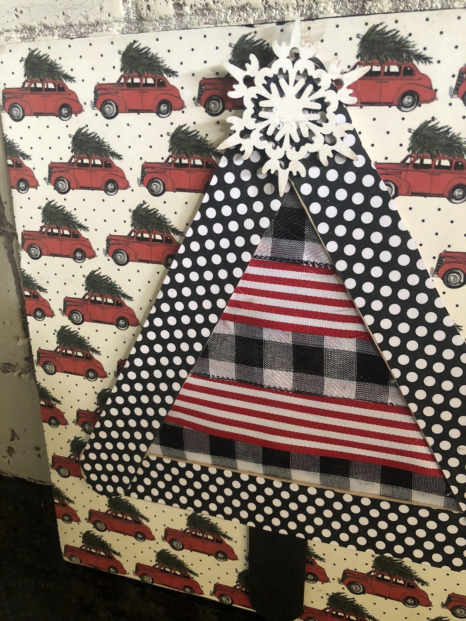 Simple Christmas tree craft idea