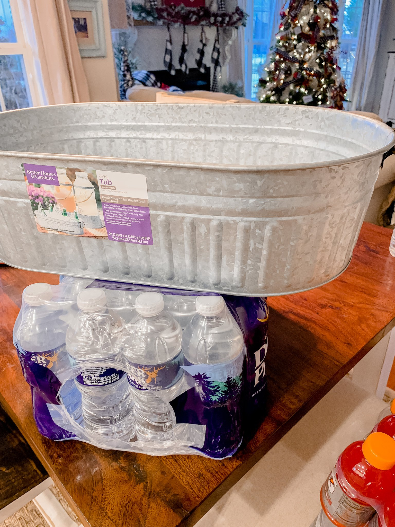 Delivery driver snack bucket idea and free printable!