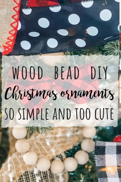 Wood Bead DIY Christmas ornaments! So easy and TOO cute!