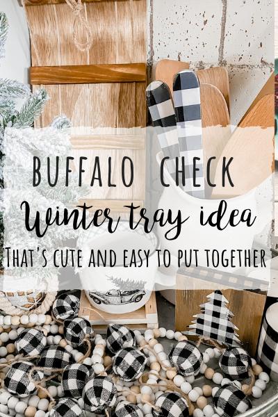 Buffalo check Winter tray idea