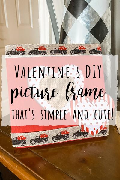Valentine's DIY picture frame