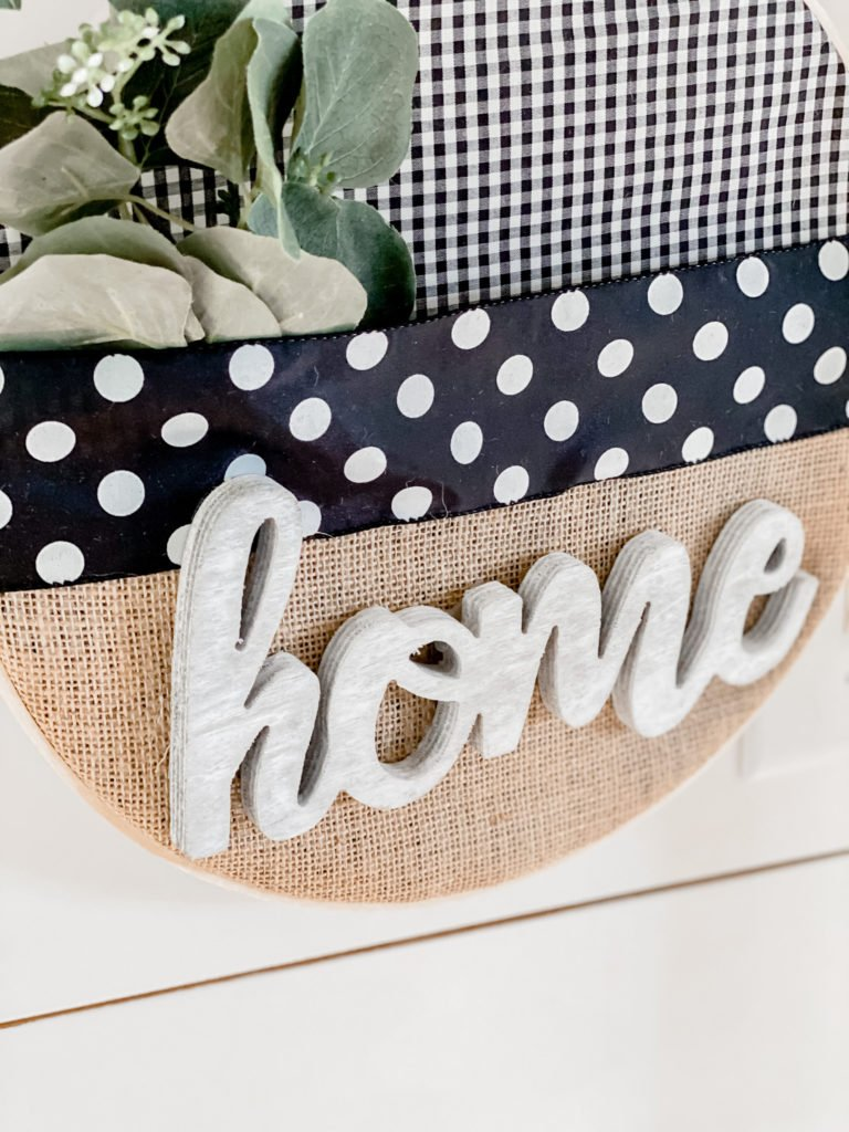 DIY embroidery hoop farmhouse wreath