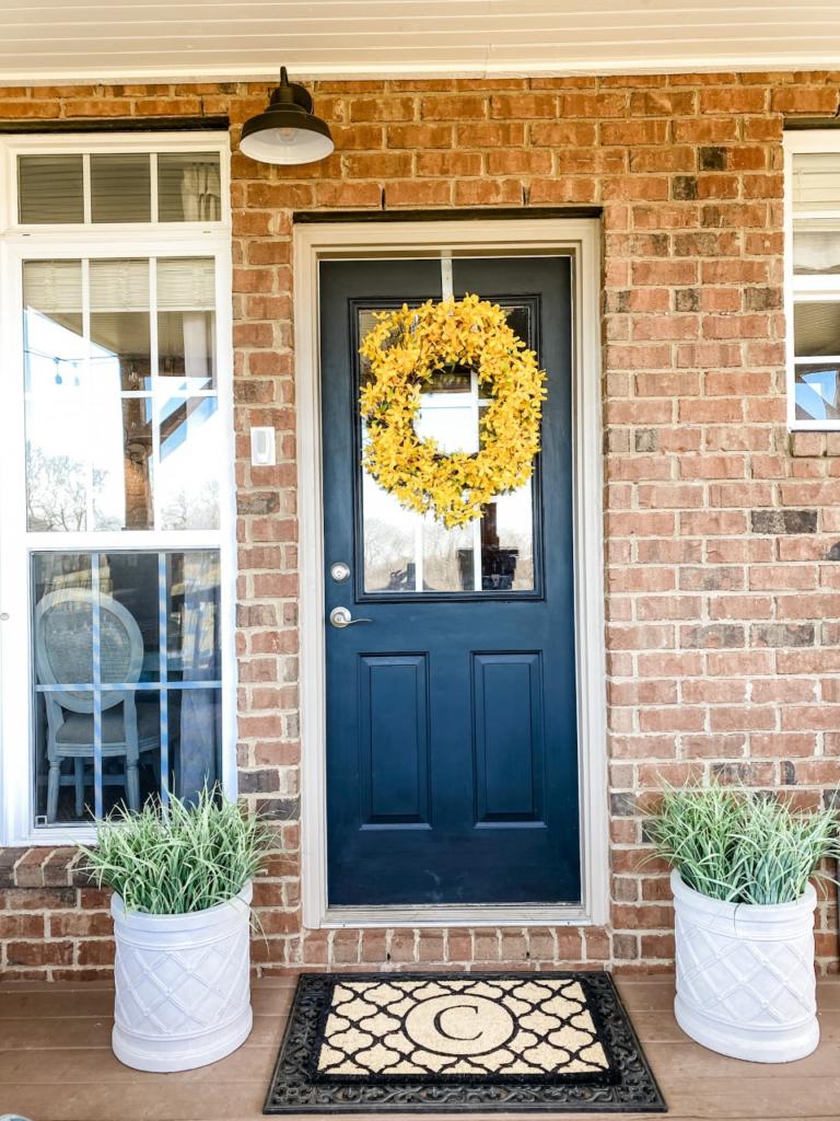 Simple porch door refresh for Spring