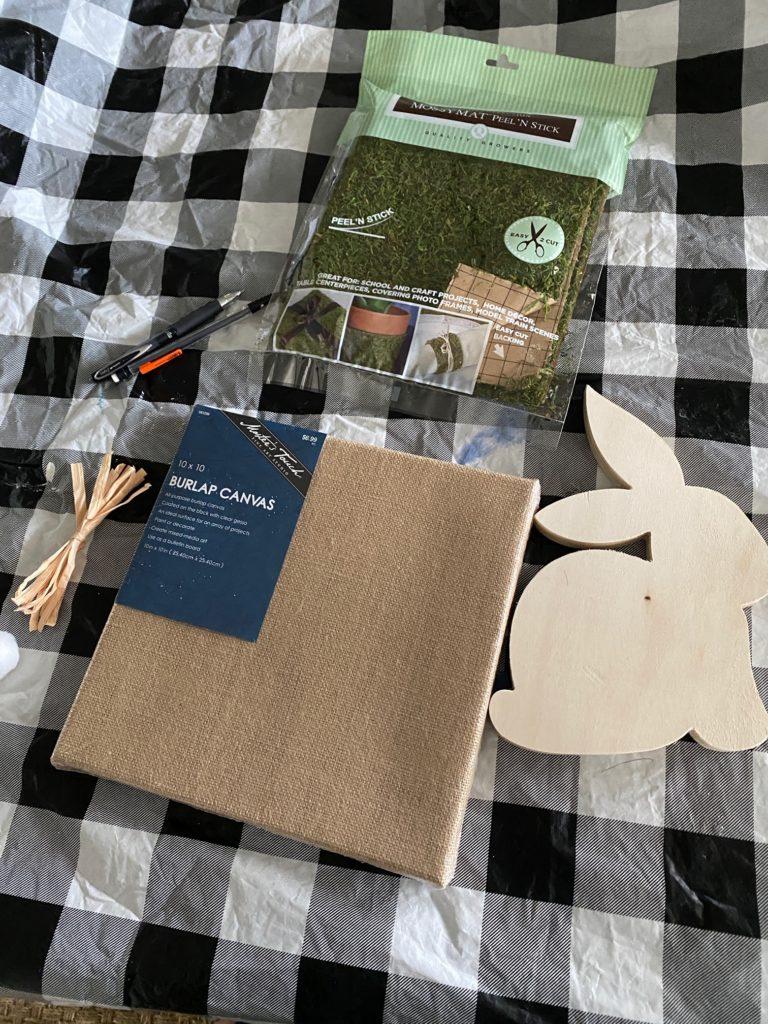 DIY Moss bunny project