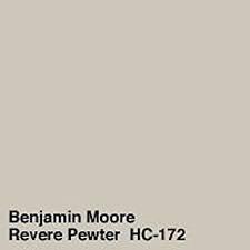 Paint colors- Revere Pewter