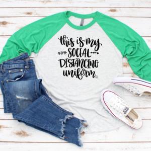 Shirt- green social distancing